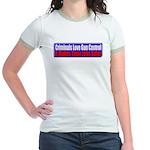 Criminals & Gun Control Jr. Ringer T-Shirt
