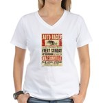Auto Races Women's V-Neck T-Shirt
