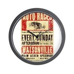 Auto Races Wall Clock