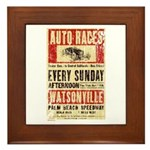 Auto Races Framed Tile