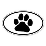 Paw Print Bumper Stickers