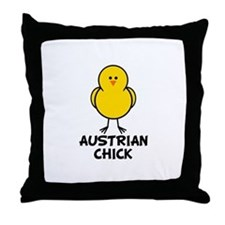 Austrian Chick Throw Pillow