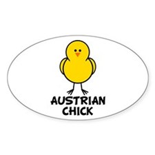 Austrian Chick Oval Decal