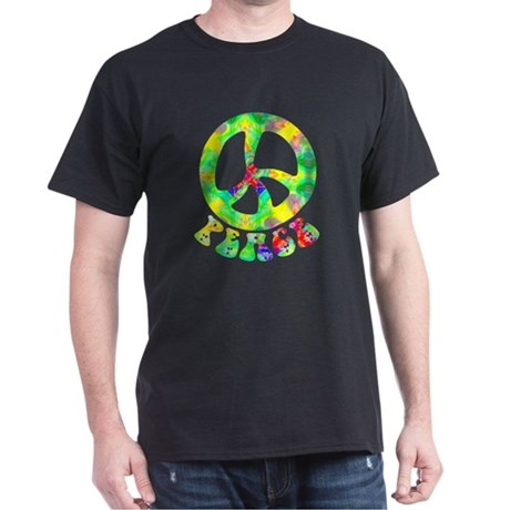 Flower Child Peace Dark T-Shirt