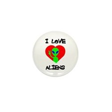 I Love Aliens Mini Button (100 pack)