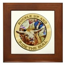 Ride the Bull Framed Tile