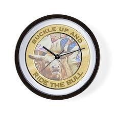 Ride the Bull Wall Clock