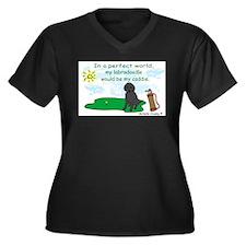 labradoodle Women's Plus Size V-Neck Dark T-Shirt