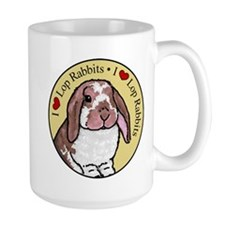 I Love Lops Circle Large Mug