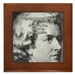 Music, Genius and Mozart Framed Tile