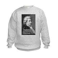 Music, Genius and Mozart Kids Sweatshirt