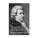 Music, Genius and Mozart Mini Poster Print