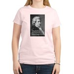 Music, Genius and Mozart Women's Pink T-Shirt