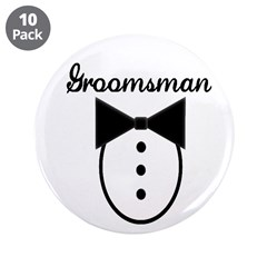 "Groomsman 3.5"" Button (10 pack)"