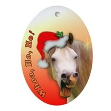 """Ho Ho Horse"" Xmas Oval Ornament"