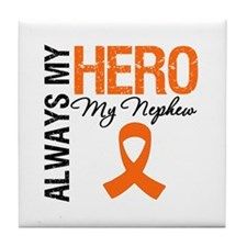 Leukemia Hero Nephew Tile Coaster
