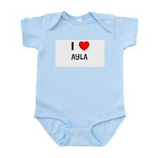 I LOVE AYLA Infant Creeper