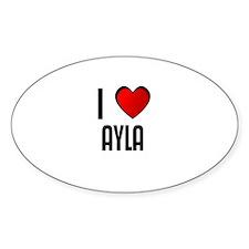 I LOVE AYLA Oval Decal