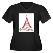 Paris France Original Merchan Women's Plus Size V-