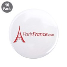 "Paris France Original Merchan 3.5"" Button (10 pack"