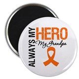 Leukemia Hero Grandpa 2.25&quot; Magnet (10 pack)