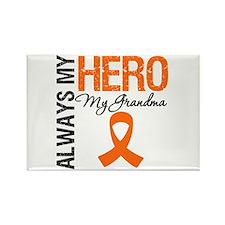Leukemia Hero Grandma Rectangle Magnet