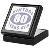 80th Birthday Gifts For Him Keepsake Box