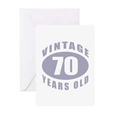 70th Birthday Gifts For Him Greeting Card