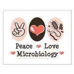Peace Love Microbiology Small Poster