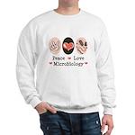 Peace Love Microbiology Sweatshirt