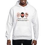Peace Love Microbiology Hooded Sweatshirt