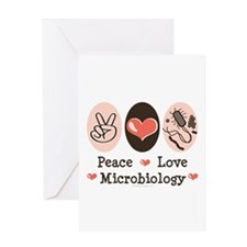 Peace Love Microbiology Greeting Card