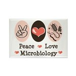 Peace Love Microbiology Rectangle Magnet (100 pack