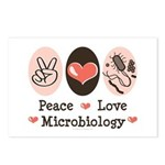 Peace Love Microbiology Postcards (Package of 8)