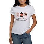 Peace Love Microbiology Women's T-Shirt