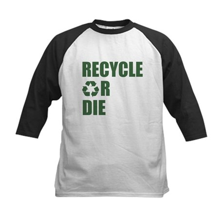 Recycle or Die Kids Baseball Jersey
