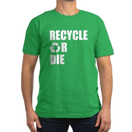 Recycle or Die Mens Fitted Dark T-Shirt