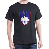Slovenia Coat Of Arms Black T-Shirt