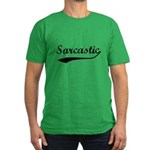 Sarcastic Men's Fitted T-Shirt (dark)