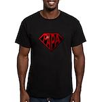 papa Men's Fitted T-Shirt (dark)