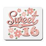 Pretty Pink Sweet 16 Mousepad