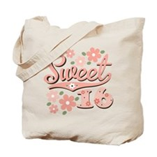 Pretty Pink Sweet 16 Tote Bag