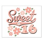 Pretty Pink Sweet 16 Small Poster