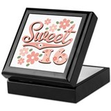 Pretty Pink Sweet 16 Keepsake Box