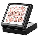 Pretty Pink Sweet 16 Keepsake Box