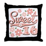 Pretty Pink Sweet 16 Throw Pillow