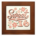 Pretty Pink Sweet 16 Framed Tile