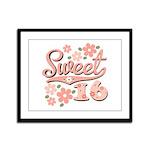 Pretty Pink Sweet 16 Framed Panel Print