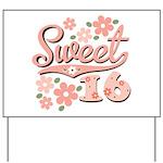 Pretty Pink Sweet 16 Yard Sign