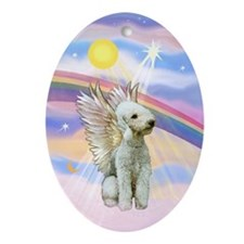 Bedlington Terrier Angel Keepsake (Oval)